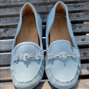 Coach suede loafers.  Lightly used.